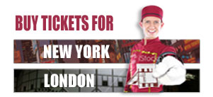 Tickets for London and New York